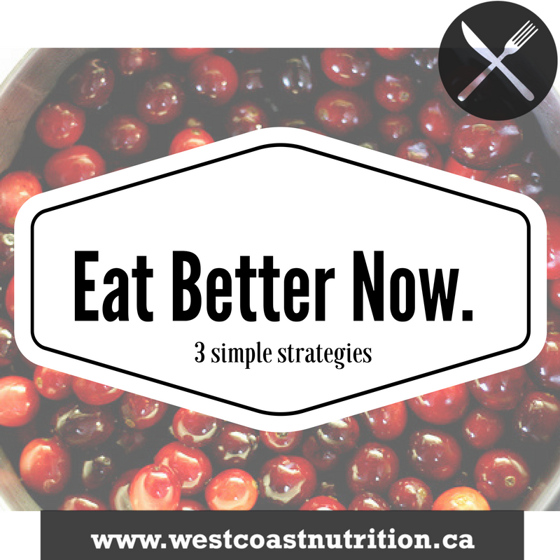 Eat Better Now : 3 Low Stress Strategies