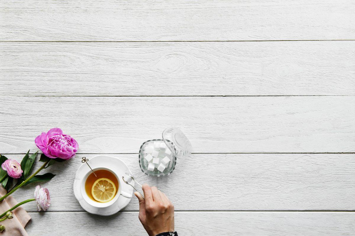 Coffee and sweetener