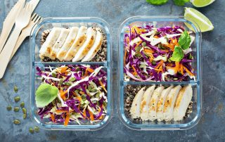 healthy meal prep with a Registered Dietitian